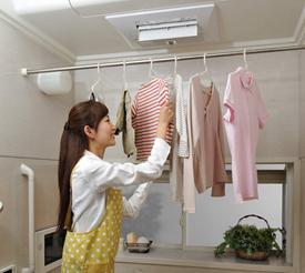 浴室を衣類乾燥室に!